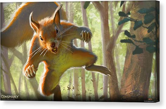 Triceratops Canvas Print - Magic The Gathering by Maye Loeser