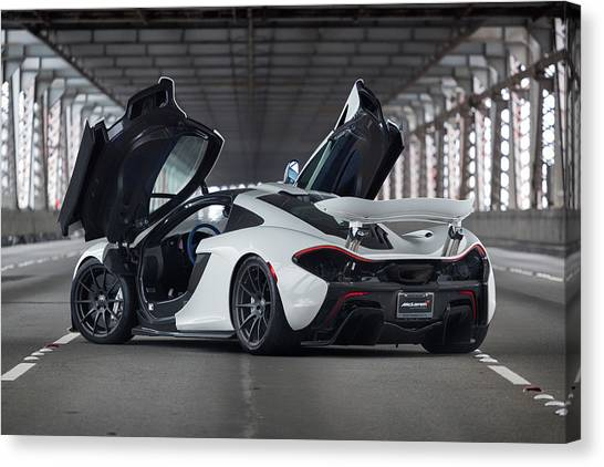 Canvas Print featuring the photograph #mclaren #p1 #print by ItzKirb Photography
