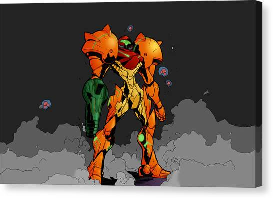 Metroid Canvas Print - Metroid by Alice Kent