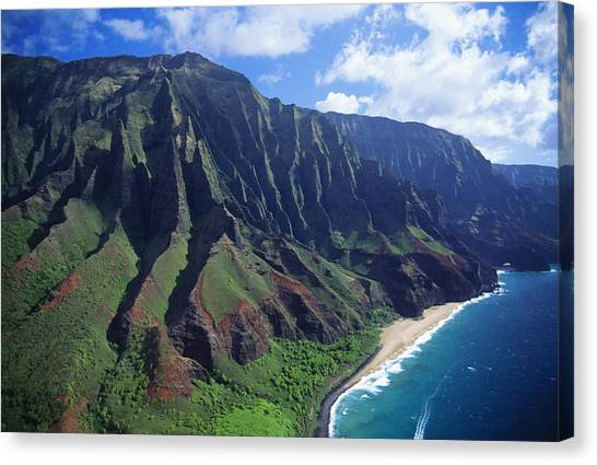 Na Pali Coast Aerial Canvas Print