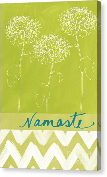 Yoga Canvas Print - Namaste by Linda Woods