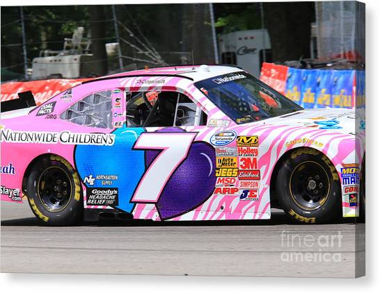 Richard Childress Canvas Print - Regan Smith Nascar Racing by Douglas Sacha