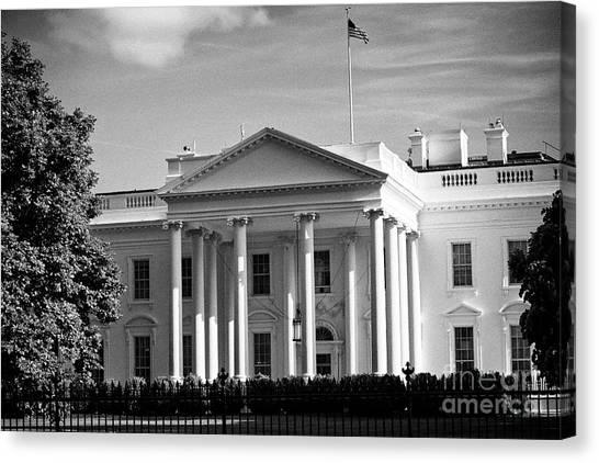 Whitehouse Canvas Print - northern facade of the white house Washington DC USA by Joe Fox