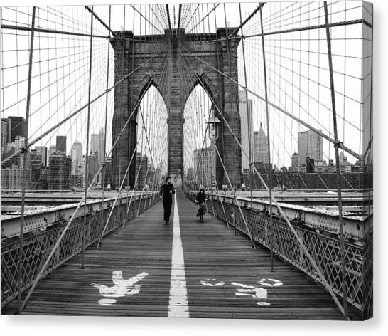 Streets Canvas Print - Nyc Brooklyn Bridge by Nina Papiorek