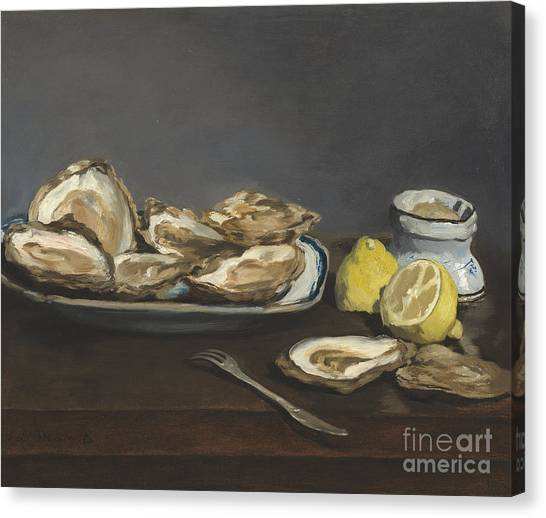 Oysters Canvas Print - Oysters by Edouard Manet