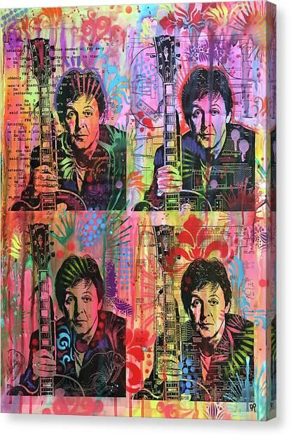 Paul Mccartney Canvas Print - 4 Paul by Dean Russo Art