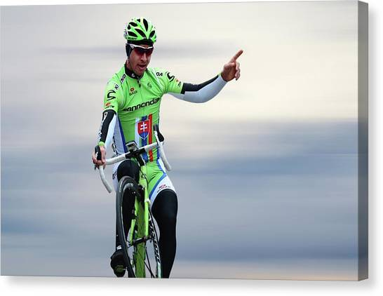 Cyclist Canvas Print - Peter Sagan 12 by Smart Aviation