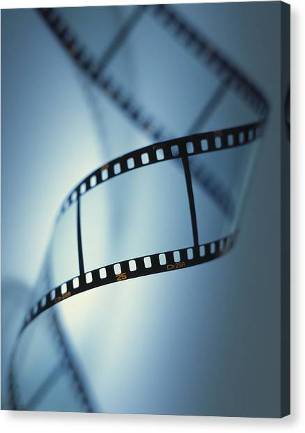 Movies Canvas Print - Photographic Film by Tek Image