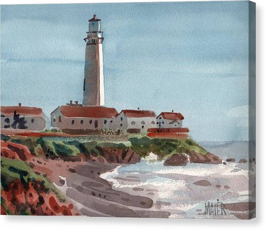 Pigeons Canvas Print - Pigeon Point Light by Donald Maier