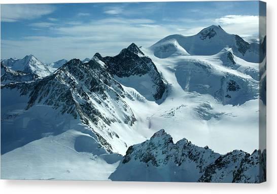Pitztal Glacier Canvas Print