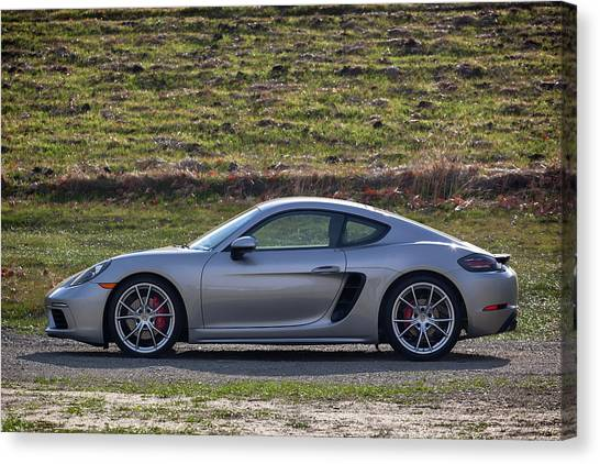Canvas Print featuring the photograph #porsche #718cayman S #print by ItzKirb Photography
