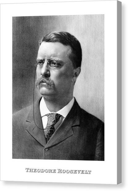Theodore Roosevelt Canvas Print - President Theodore Roosevelt by War Is Hell Store