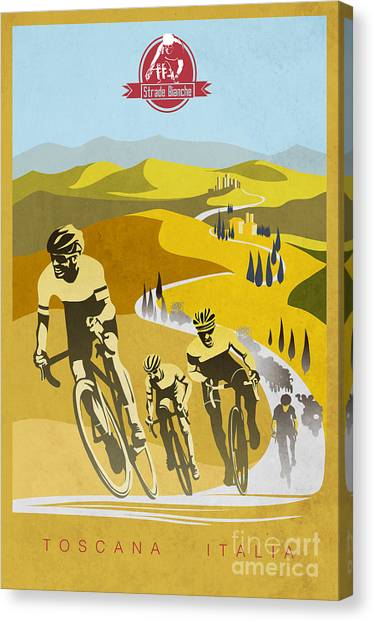 Classic Cycle Canvas Print - Print by Sassan Filsoof