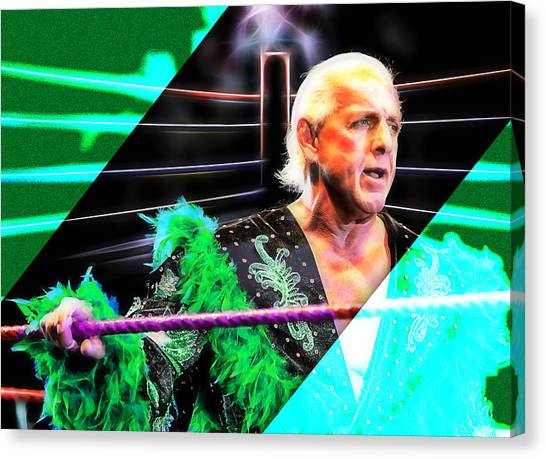 Ric Flair Canvas Print - Ric Flair Wrestling Collection by Marvin Blaine