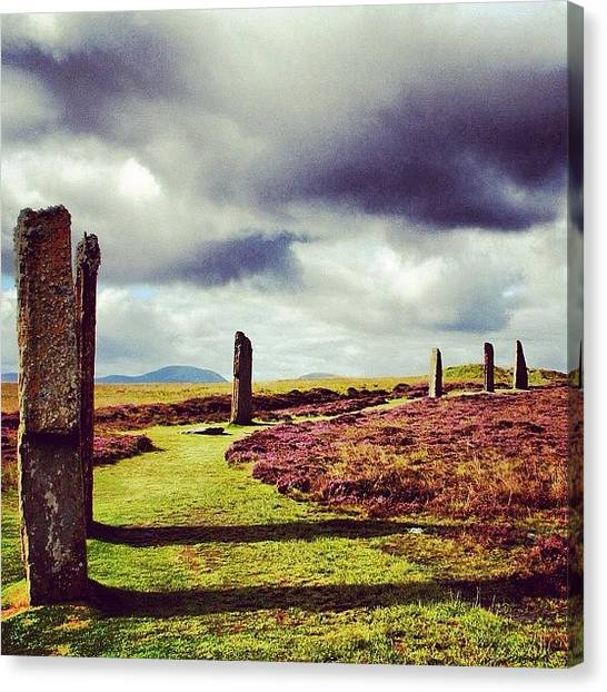 Travel Canvas Print - Ring Of Brodgar by Luisa Azzolini
