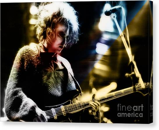 Robert Smith Music Canvas Print - Robert Smith Collection by Marvin Blaine