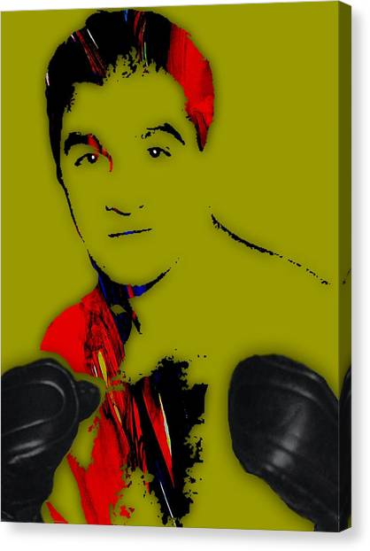 Vintage Canvas Print - Rocky Marciano Collection by Marvin Blaine