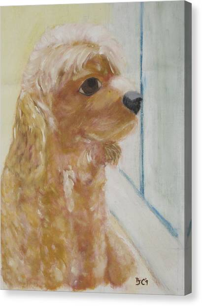Rusty Aka Digger Dog Canvas Print