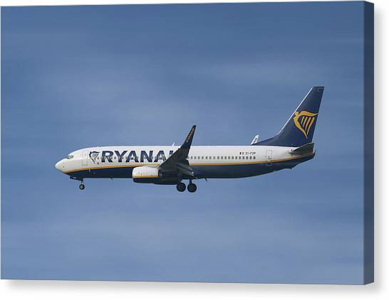 Jet Canvas Print - Ryanair Boeing 737-8as  by Smart Aviation