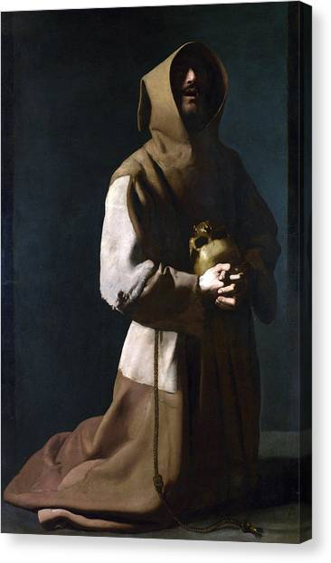 Baroque Art Canvas Print - Saint Francis In Meditation by Treasury Classics Art