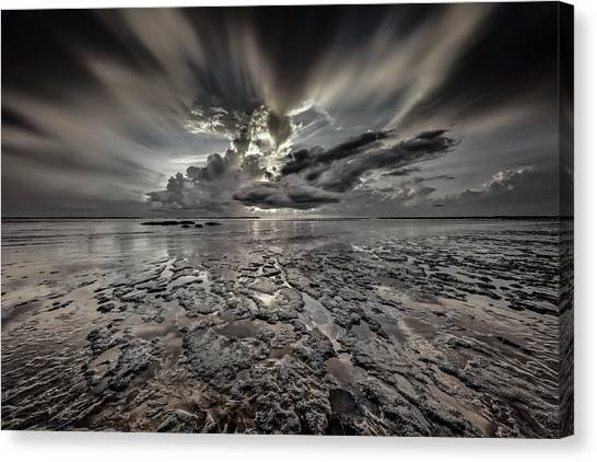 Seascape Of Hilton Head Island Canvas Print