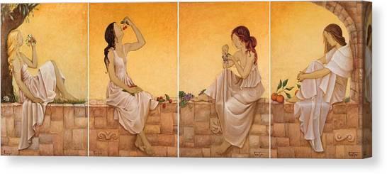 4 Seasons II Canvas Print by Barbara Gerodimou