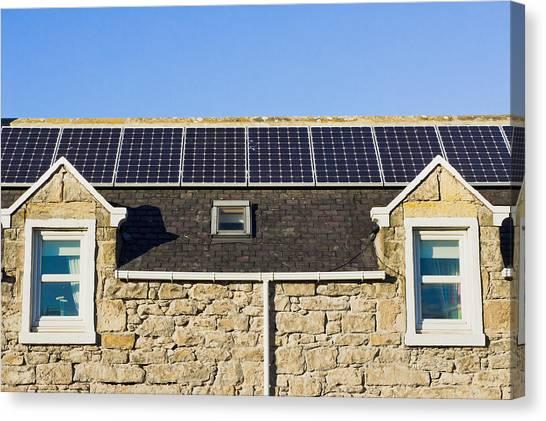 Installation Art Canvas Print - Solar Panels by Tom Gowanlock