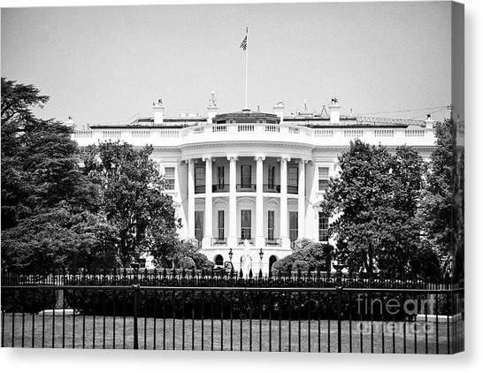 Whitehouse Canvas Print - south facade of the white house Washington DC USA by Joe Fox