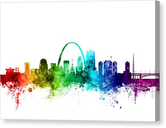 Missouri Canvas Print - St Louis Missouri Skyline by Michael Tompsett