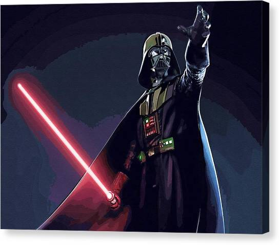C-3po Canvas Print - Star Wars Episode 2 Art by Larry Jones