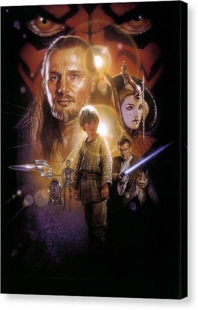 Chewbacca Canvas Print - Star Wars Episode I - The Phantom Menace 1999 by Geek N Rock