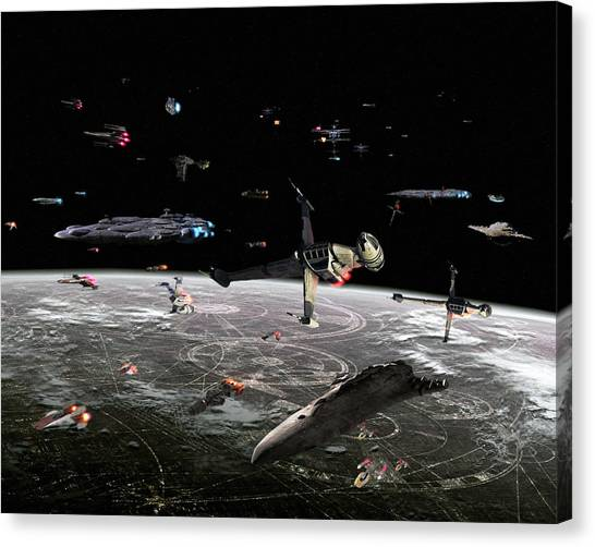 Trampoline Canvas Print - Star Wars by Maye Loeser