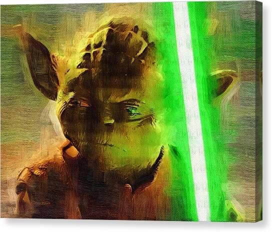C-3po Canvas Print - Star Wars Saga Art by Larry Jones