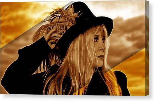 Stevie Nicks Canvas Print - Stevie Nicks Collection by Marvin Blaine
