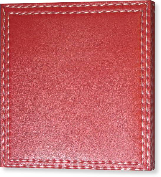 Rights Managed Images Canvas Print - Stitched Leather Look Downloadable Jpg Files Art Suitable For Diy Bulk Print Or Customize Projects  by Navin Joshi