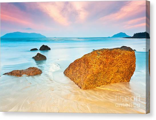 Beach Sunsets Canvas Print - Sunrise by MotHaiBaPhoto Prints