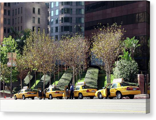4 Taxis In The City Canvas Print
