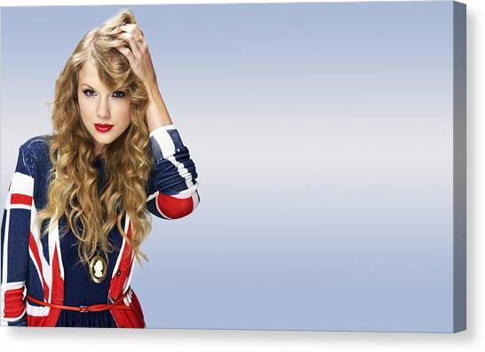Taylor Swift Canvas Print - Taylor Swift by Maye Loeser