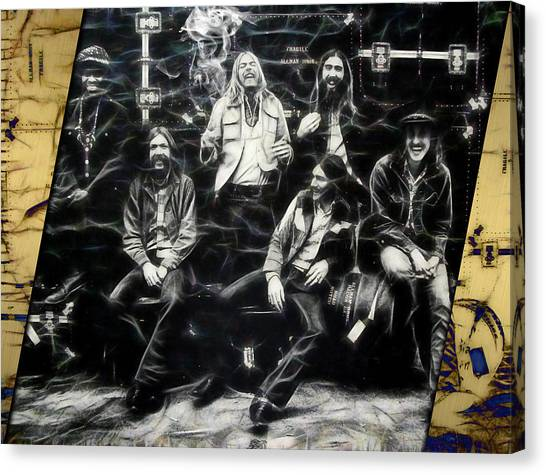 The Allman Brothers Canvas Print - The Allman Brothers Collection by Marvin Blaine
