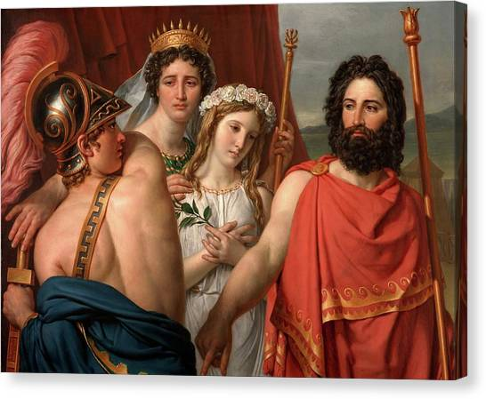 Neoclassical Art Canvas Print - The Anger Of Achilles by Jacques-Louis David
