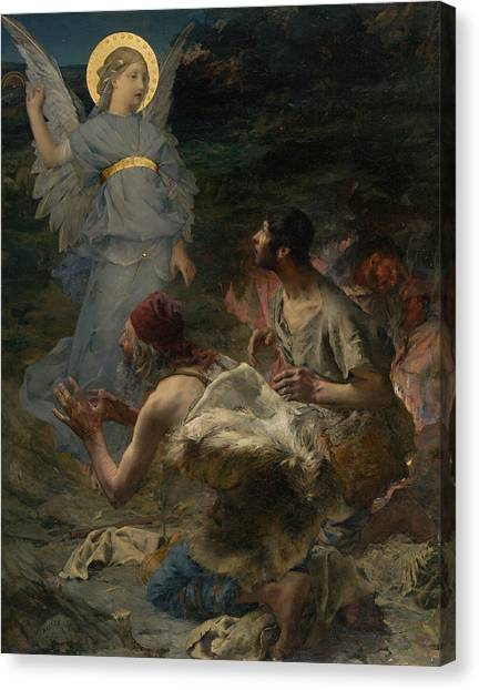 The Annunciation Canvas Print - The Annunciation To The Shepherds by Jules Bastien-Lepage