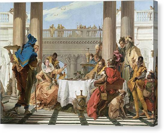 Rococo Art Canvas Print - The Banquet Of Cleopatra by Treasury Classics Art