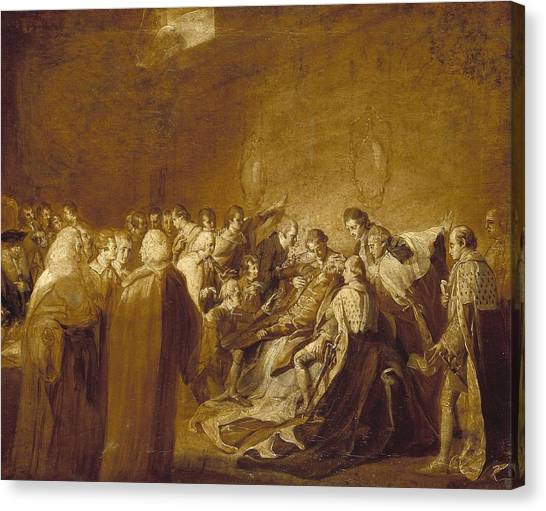 Chatham Canvas Print - The Collapse Of The Earl Of Chatham by John Singleton