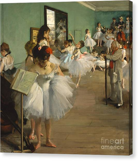 Edgar Degas Canvas Print - The Dance Class by Edgar Degas