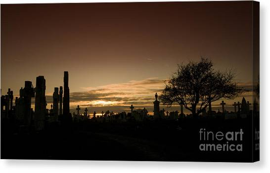 The Graveyard Canvas Print by Angel Ciesniarska