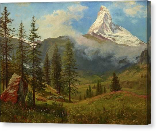 Matterhorn Canvas Print - The Matterhorn by Albert Bierstadt