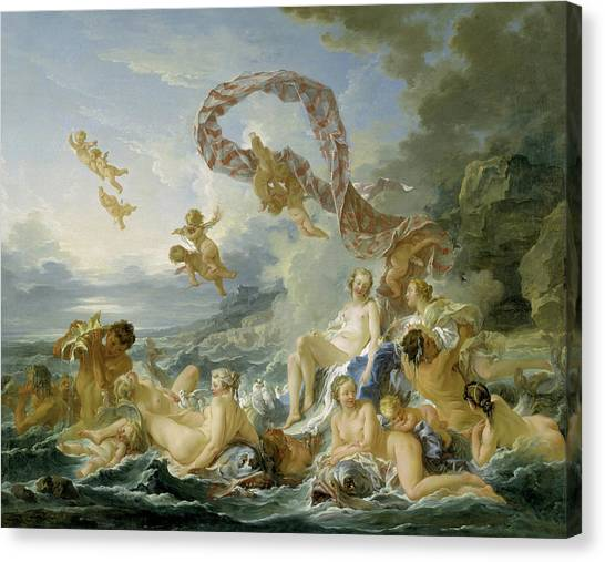 Venus Canvas Print - The Triumph Of Venus by Francois Boucher