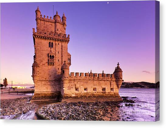 Tower Of Belem Canvas Print by Andre Goncalves