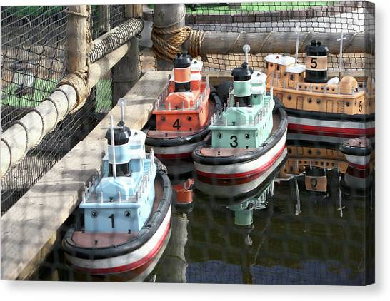 4 Toy Boats Canvas Print