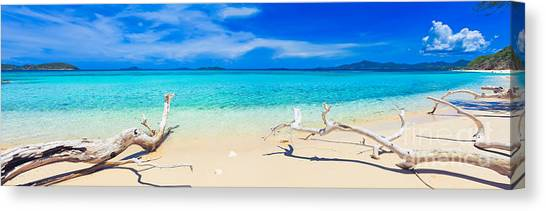 Horizons Canvas Print - Tropical Beach Malcapuya by MotHaiBaPhoto Prints